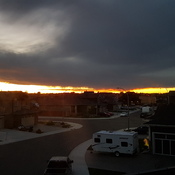 Sunset in Lethbridge