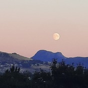 Almost full moon over Vernon