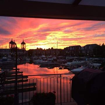 Sunset at Newport Yacht Club in Stoney Creek