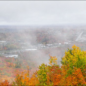 View from the lookout, Elliot Lake.