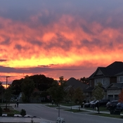 Evening sky above Whitby, Ontario