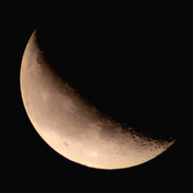 October Crescent Moon