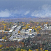 Snow clouds over Elliot Lake.