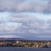Cloud banks over the Quebec side of the Ottawa River