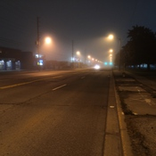 Foggy view at Kipling Avenue