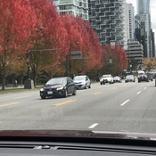 Nice to see the reds in downtown Vancouver.