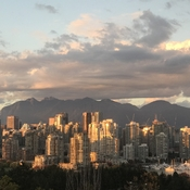 Beautiful sunset over Vancouver