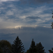 Shelf Cloud over Barrie ON Oct 23 2020