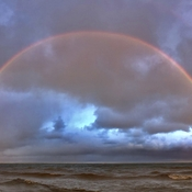 Double Rainbow over Lake Huron