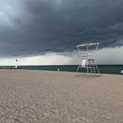Yesterdays storm rolling in over Grand Bend