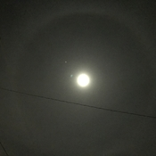 Halo moon tonight