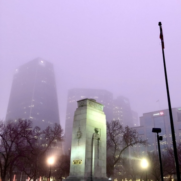 Misty Morning Downtown