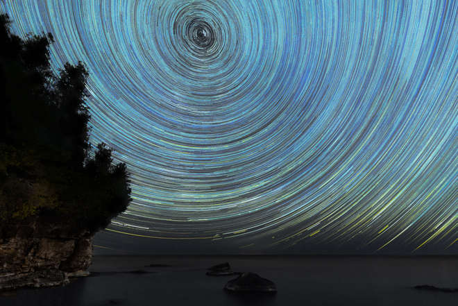 Time lapse of the stars Northern Bruce Peninsula, Ontario, CA