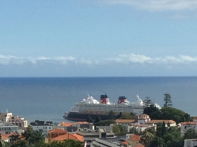 Nov 19 2020 funchal Disney cruise pandemic over Unnamed Road, 9000 Funchal, Portugal