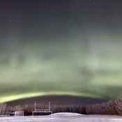 Auroras Dancing Over Schoolyard
