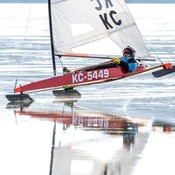Ice boating In Thunder Bay