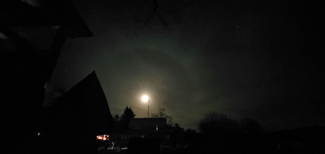 ring around the moon.. bad weather soon. Ivy Lea, ON
