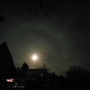 ring around the moon.. bad weather soon.