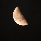 Half Moon with Craters