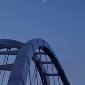 Crescent Moon and Waterdale Bridge
