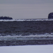 ICE FLOWS on the BIG LAKE