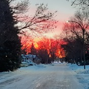 sunrise in North Kildonan