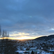 Winter sunrise in Corner Brook, nl. Taken from our house this morning