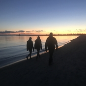 Sunset walk along Cobourg Beach
