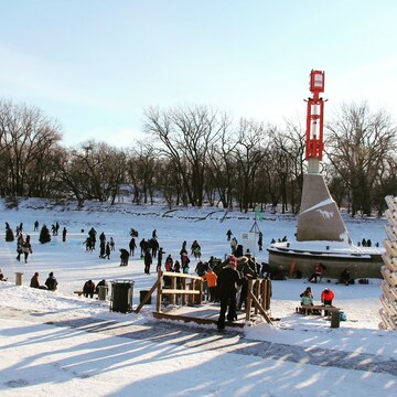 The Forks skating