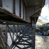under neat the reversing falls bridge