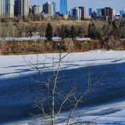 Melting ice on North Saskatchewan River