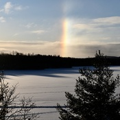 Winter Snow Rainbow