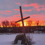 Sunset n Cross