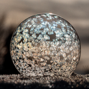Frigid weather makes beautiful frozen bubbles