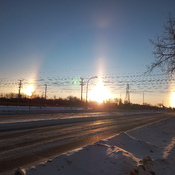 Sun dogs Winnipeg