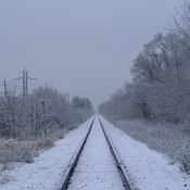 Snowy side of the tracks