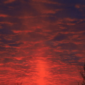 Sun Pillar Sunrise