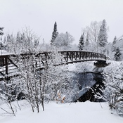 Winter bridge along the trail