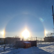 Sun dogs Winnipeg West End