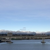 New snow on the north shore mountains.