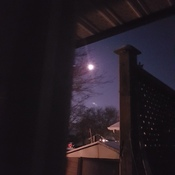 early morning bright moon