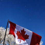 Canada Flag Frosty Morning