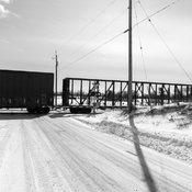 Train at Snowy Road