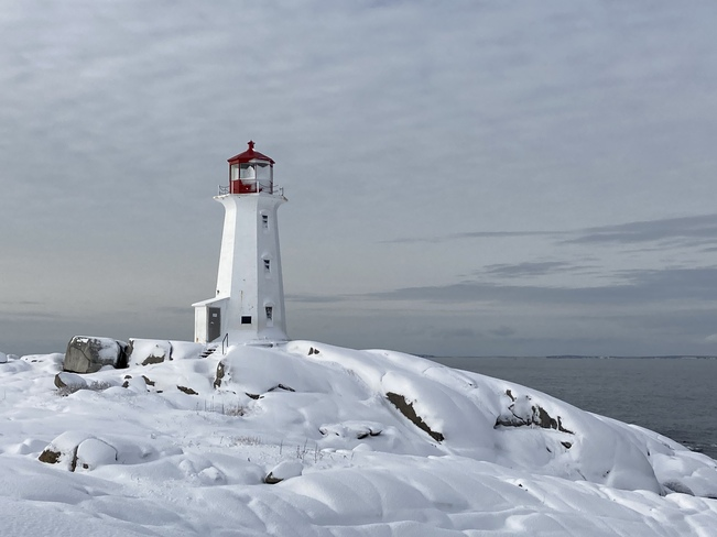 After the snow Peggys Cove, Nova Scotia