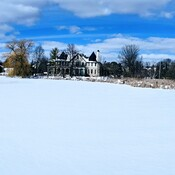 Snow covered Oakbank Pond