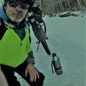 winter mountain biking trails.