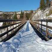 Hiking on the Kettle Valley Rail Trail