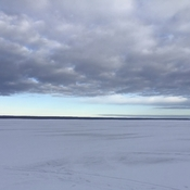 Cloudy morning on lesser slave lake.