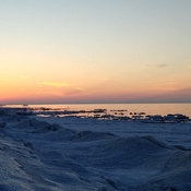 Sun setting on Lake Huron