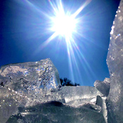 Sparkling crystal clear ice